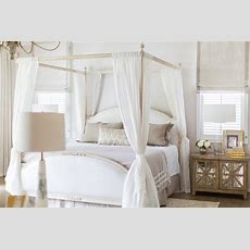 Gray Canopy Bed Curtains Design Ideas