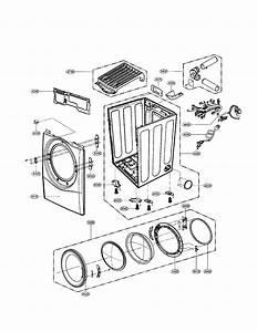 Cabinet  Door Diagram  U0026 Parts List For Model Dle2512w Lg