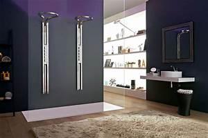 petite salle de bain douche italienne With porte de douche coulissante avec plan de travail en marbre pour salle de bain