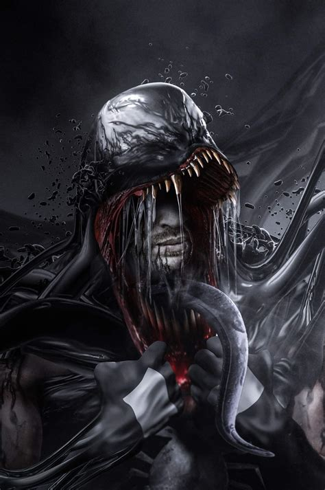 Tom Hardy Venom Transformation Artwork!  Venom Movie News