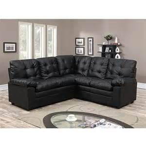 buchannan faux leather corner sectional sofa black walmart