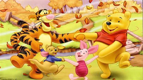 winnie  pooh  merry friends cartoon autumn