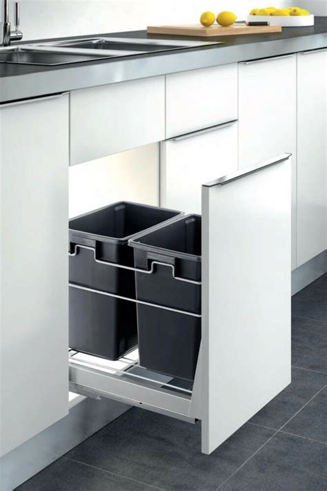 Cabinet Garbage Cans by Container Kitchen Cabinet Pull Out Trash Can