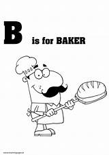 Baker Colouring Mummypages Ie Pdf sketch template