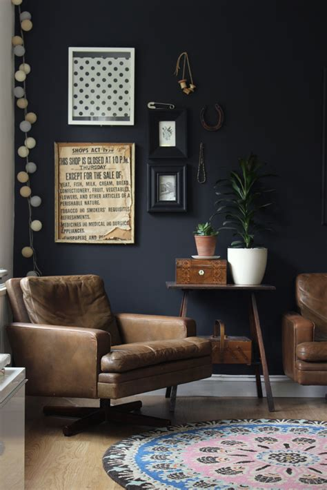 impulsive decorating our black living room wall growing spaces