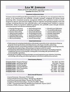 resume samples types of resume formats examples templates With property manager resume template free