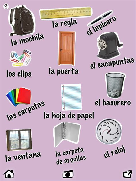 classroom vocabulary in spanish worksheet google search
