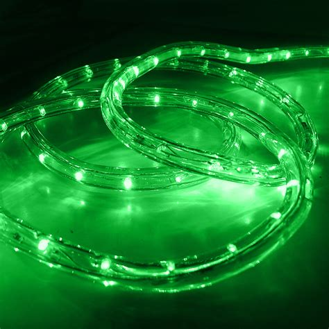 led 50 2 wire green rope light outdoor home 110v lighting