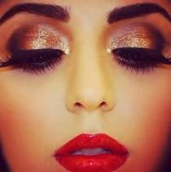 Red Dress Prom Makeup for Brown Eyes