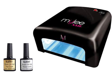 gel nail kit with uv light gel nail manicure kit bluesky top base coat mylee