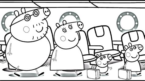 Peppa Pig Flying on Holiday Kids Fun Art Coloring book