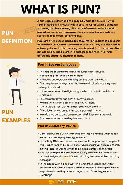 Pun Examples Definition Literature Speech English Example