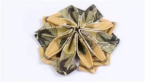 Money Origami Flower  Ud83c Udf38 Dollar Origami Flower Folding