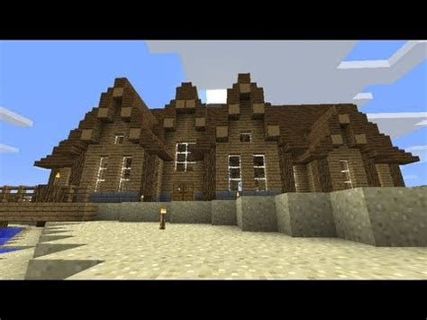 minecraft canadian log cabin style house youtube