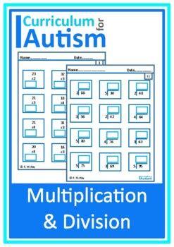 multiplication division  single digits worksheets