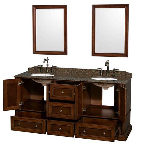 Rochester 72 Inch Double Bathroom Vanity In Cherry, Baltic