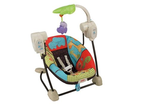 Fisherprice Luv U Zoo Spacesaver Swing & Seat  Kids & Toys