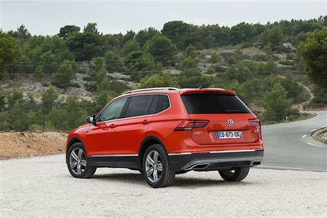 By folding down the backrests of the second row of seats, the cargo space available can be boosted from 760 liters to as much as 1,920 liters. VOLKSWAGEN Tiguan Allspace specs & photos - 2017, 2018 ...