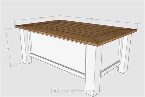 How To Build A Farmhouse Coffee Table (with Storage)-free