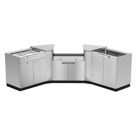 outdoor kitchen cabinets home depot newage products stainless steel classic 5 86x36x86 7232