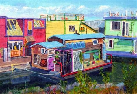 Boat Canvas Duncan Bc by Landscape Painting Cards Mclean Duncan Bc