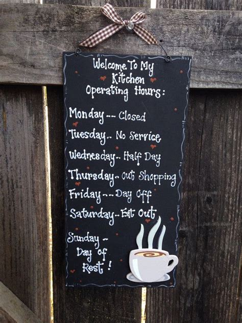 country kitchen hours new coffee kitchen hours sign 12 x 6 country wood crafts 2809