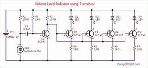 Volume Level Indicator Using Transistor