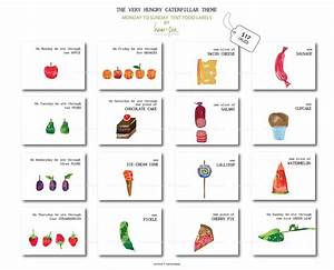 The Very Hungry Caterpillar Tent Food Labels Monday By Hamandpea