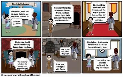 Othello Storyboard Shakespeare Play Venice Iago Roderigo
