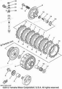Yamaha Motorcycle 2002 Oem Parts Diagram For Clutch