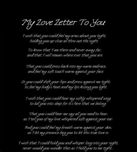 love letters    sample  format
