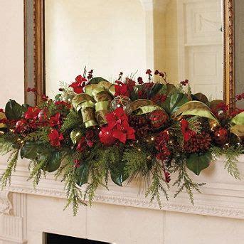 glad tidings mantle swag christmas mantels pinterest