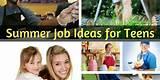 Ideas for teen jobs