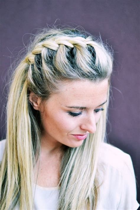 diy   side french braid hairstyle simple  follow