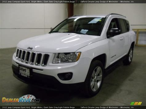 jeep compass sport white 2012 jeep compass sport 4x4 bright white dark slate gray
