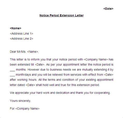 notice period letter templates