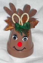 reindeer clay pot ornament allfreechristmascraftscom