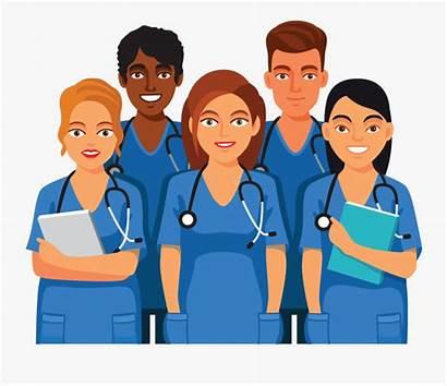 Nurses Clip Clipart Care Health Professionals Transparent