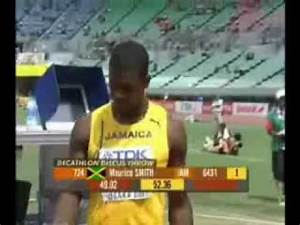 Maurice Smith Decathlon Shot Put and Discus Spin Technique ...