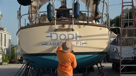 The Boat Life by How To Install Large Decals The Boat Life Youtube