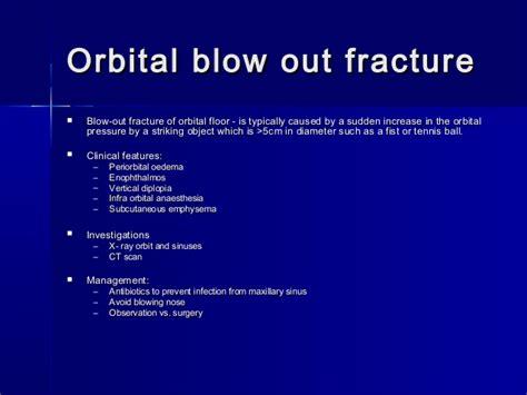orbital floor fracture blowout lacrimal system disorders