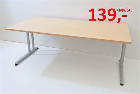 Schreibtisch  180 Cm  Cfuß Gestell  Ahorn Schärf