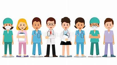 Team Medical Hospital Staff Isolated Healthcare Clipart