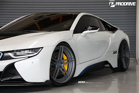 Crystal Pearl White Bmw I8 With Adv.1 Wheels And