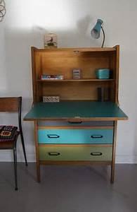 Bureau Secretaire Vintage : 1000 images about secretaire on pinterest commode ~ Teatrodelosmanantiales.com Idées de Décoration