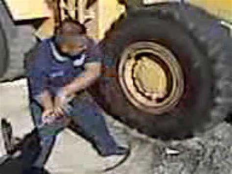break    loader tire  hand youtube