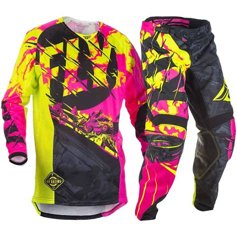 motocross gear for girls new fly racing 2018 youth mx kinetic outlaw pink hi vis