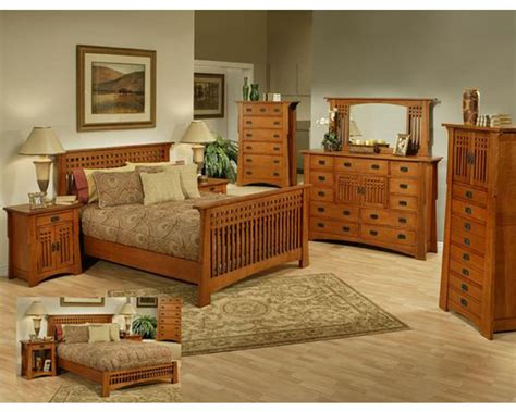 oak bedroom set  cherry finish bungalow  ayca ay ap