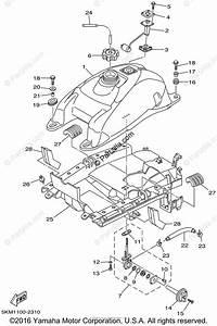 Yamaha Atv 2002 Oem Parts Diagram For Fuel Tank