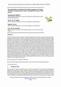 (PDF) Developing human capital for sustainable competitive ...